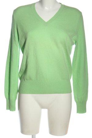 Nice collection Pull en cashemire vert style décontracté