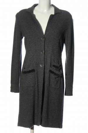 Nice collection Długi sweter jasnoszary Melanżowy Elegancki