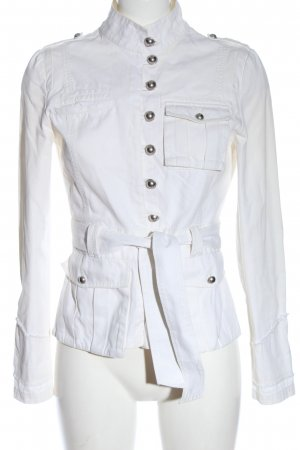 Nice Concept Blazer in jeans bianco stile casual