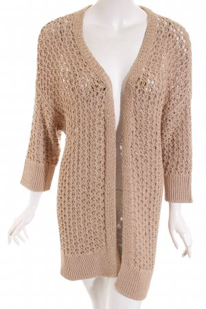 Nice Connection Cardigan beige Stickereiverzierung