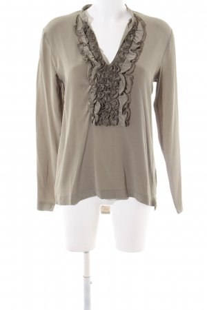 Nice Connection Langarm-Bluse bronzefarben Casual-Look