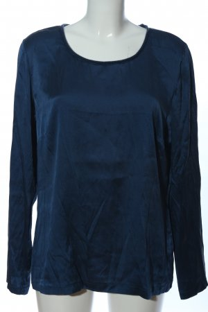Nice Connection Silk Blouse blue casual look