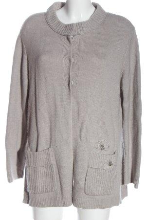 Nice Connection Giacca in maglia grigio chiaro stile casual