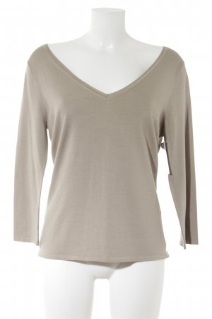 Nice Connection V-Ausschnitt-Pullover beige Casual-Look
