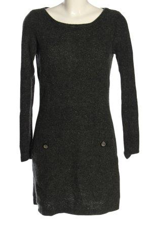 Nice Connection Vestido de lana negro moteado look casual