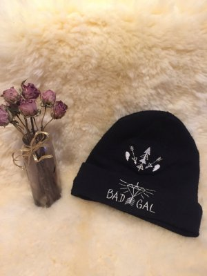 H&M Baker's Boy Cap black-white