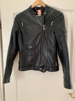 Offset Biker Jacket black