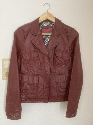 Nice Leder Jacke gr. M / 38 rotwein