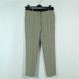 Nice Things Pantalone peg-top bianco-nero