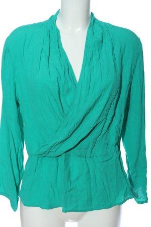 Nice Things Langarm-Bluse grün Casual-Look