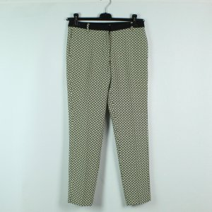 Nice Things Pantalon fuselé blanc-noir