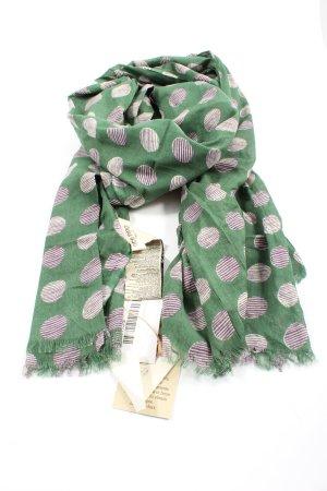 Nice Things Zomersjaal groen-lila Patroon-mengeling casual uitstraling