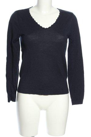 Nice Things V-Ausschnitt-Pullover blau Casual-Look