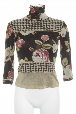 niceconnection Langarm-Bluse florales Muster extravaganter Stil