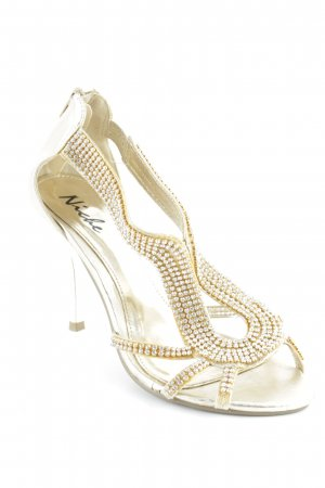 Niche High Heels goldfarben Paris-Look