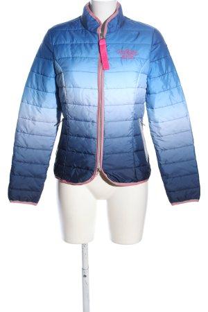 Nickelson Daunenjacke blau-weiß Farbverlauf Casual-Look