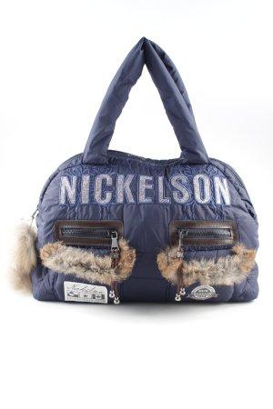 Nickelson Borsa con manico blu stile stravagante