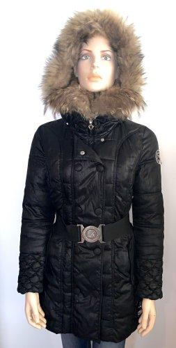 Nickelson Kurtka zimowa czarny-jasnobrązowy Futro