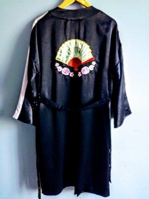 H&M Nachtjapon zwart-lichtroze