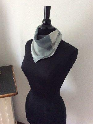 handmade with love Pañuelo de seda negro-gris