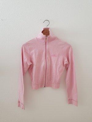 nicky Sweatjacke crop cropped Venice Beach rosa pink small Trainingsjacke Sportjacke