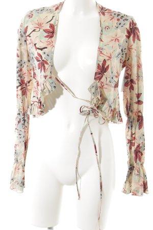 Nico Nico Wickel-Bluse florales Muster Casual-Look