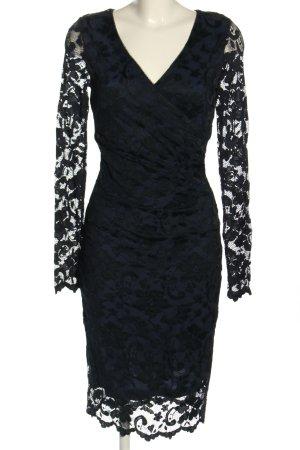 Nicole Miller Lace Dress blue-black elegant