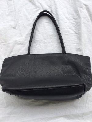 Nicole Pietag Leder Handtasche Shopper schwarz