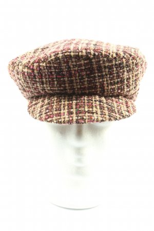 Nicowa Casquette gavroche motif à carreaux style décontracté