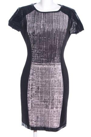 Nicowa Bleistiftkleid schwarz-pink abstraktes Muster Business-Look