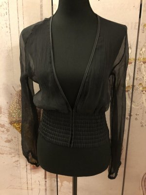 Nicowa Transparent Blouse black