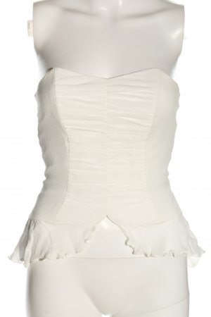 Nicowa Top gorsetowy w kolorze białej wełny W stylu casual