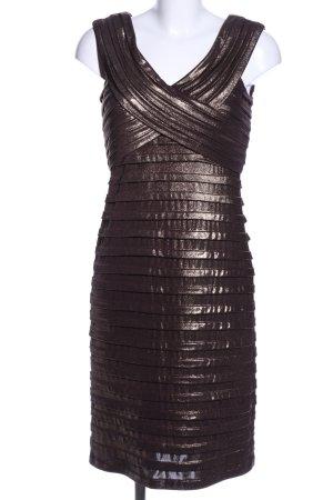 Nicowa Etuikleid bronzefarben-braun Streifenmuster Elegant
