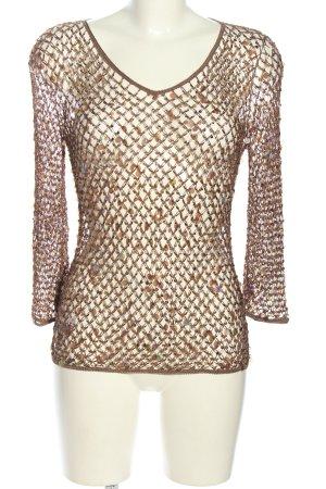 Nicowa Gehaakte trui bruin extravagante stijl