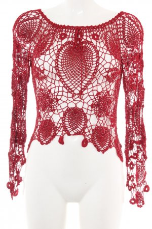 Nicowa Crochet Shirt red party style