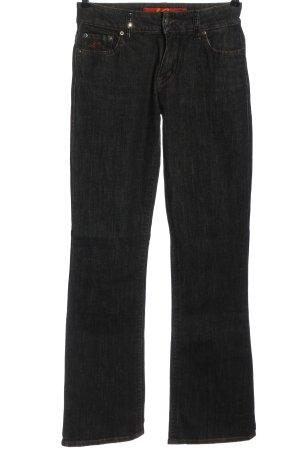Nicowa Jeans a zampa d'elefante nero stile casual