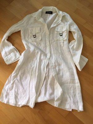 Nicowa Kleid 38 m weiß Leinen Langarm Damen