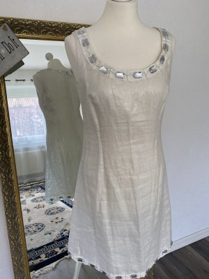 Nicowa Cocktail Dress white-silver-colored linen