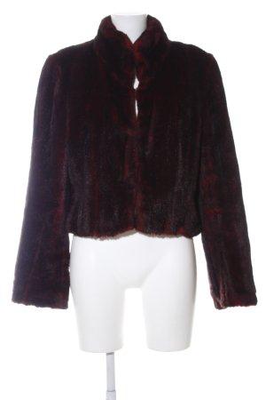 Nicowa Giacca in eco pelliccia marrone-rosso Colore sfumato stile casual