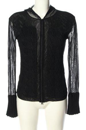 Nicowa Kurzjacke schwarz Zopfmuster extravaganter Stil