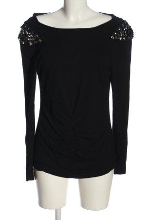 Nicowa Langarm-Bluse schwarz Casual-Look