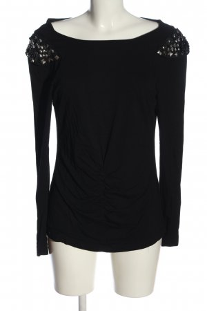 Nicowa Long Sleeve Blouse black casual look