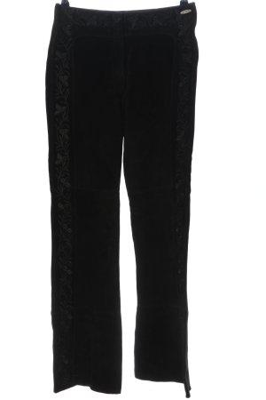 Nicowa Leather Trousers black casual look