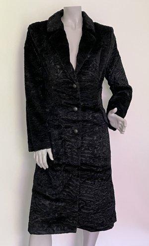 Nicowa Manteau en fausse fourrure noir