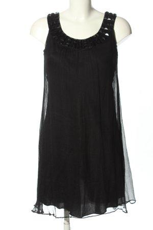 Nicowa Midi Dress black wet-look