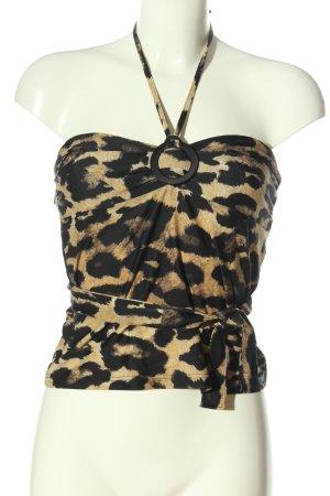 Nicowa Top senza maniche Stampa leopardata stile casual