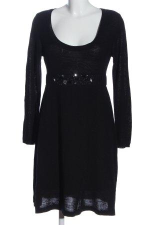 Nicowa Swetrowa sukienka czarny Elegancki
