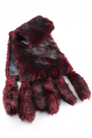 Nicowa Écharpe ronde noir-rouge gradient de couleur style décontracté