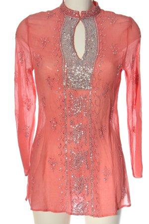 Nicowa Blusa in seta rosa stile casual