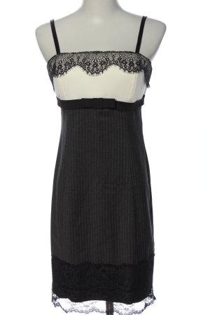 Nicowa Trägerkleid schwarz-weiß Streifenmuster Elegant